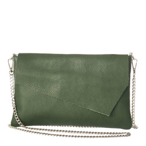 Giorgio Costa Green Leather Clutch Bag