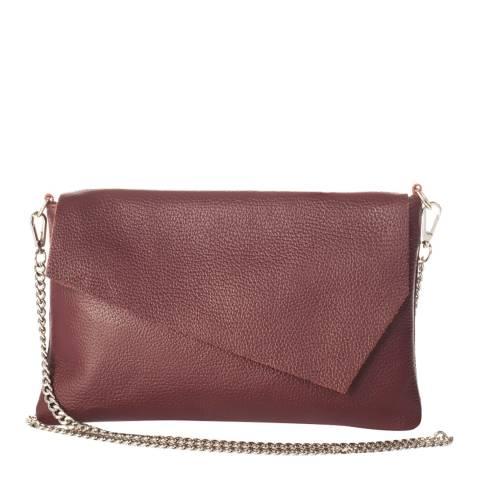 Giorgio Costa Wine Leather Clutch Bag