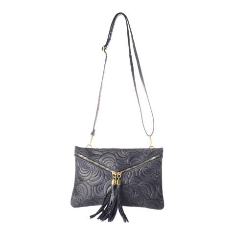 Lisa Minardi Blue Leather Clutch Bag