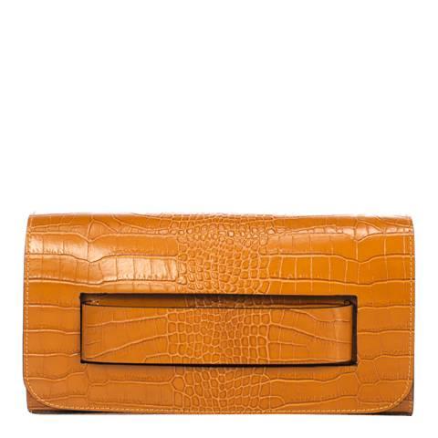 SCUI Studios Cognac Leather Clutch Bag