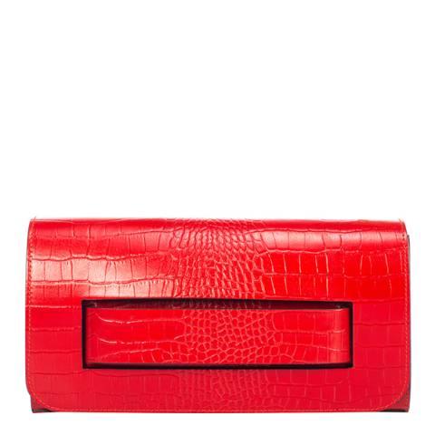 SCUI Studios Red Leather Clutch Bag