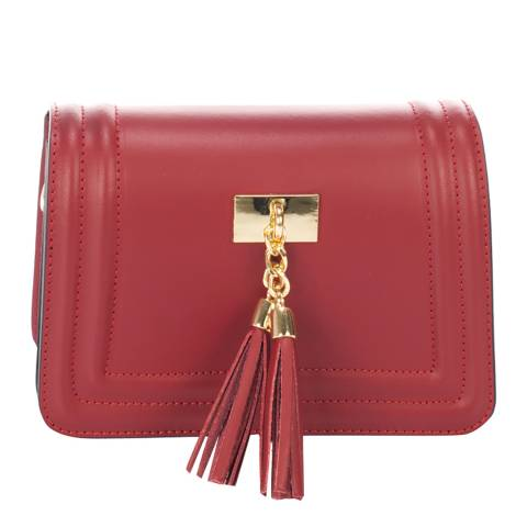 Giorgio Costa Burgundy Leather Clutch Bag