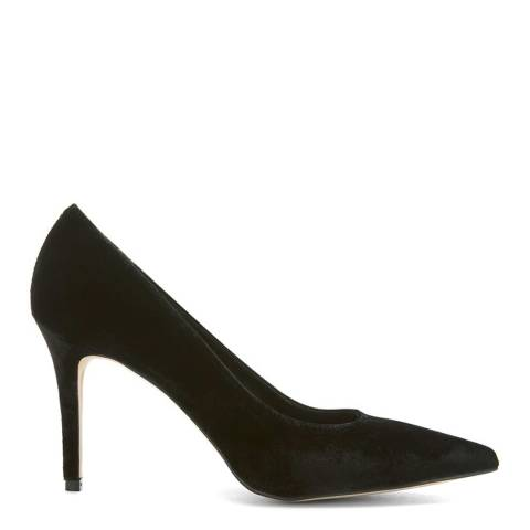 Mint Velvet Black Sarah Velvet Court Shoes