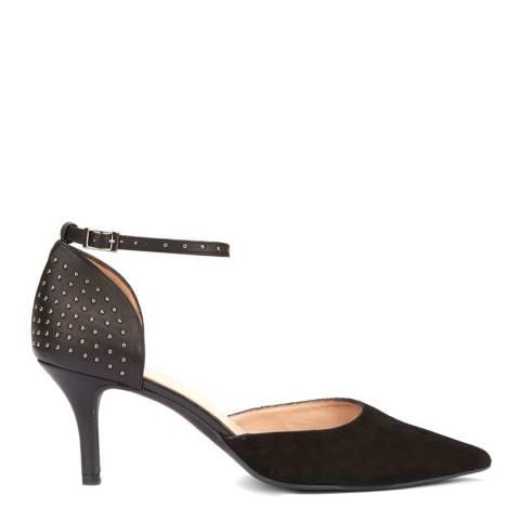 Mint Velvet Black Imogen Stud Suede Court Shoes