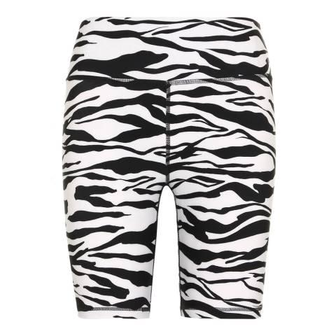 DKNY White Fitness Zebra Shorts