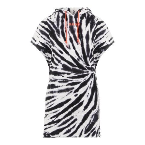 DKNY Black Tie Dye Hooded Dress