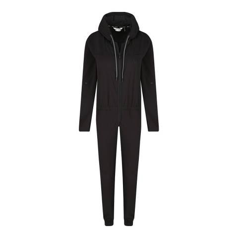 DKNY Black Roll Sleeve Jumpsuit