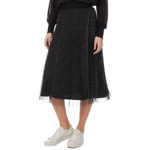 DKNY Black Midi Pleated skirt