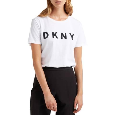 DKNY White Printed Logo T-Shirt