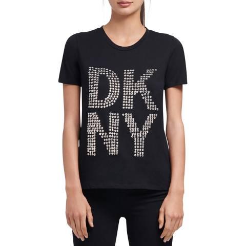 DKNY Black DKNY Stud Logo T-Shirt