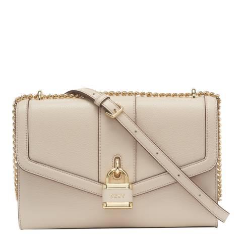 DKNY Pink Ella Leather Shoulder Bag
