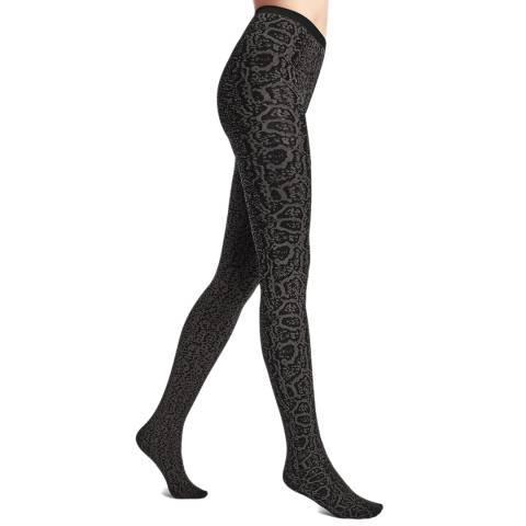 Wolford Shark Grey/Black Blotched Snake Tights