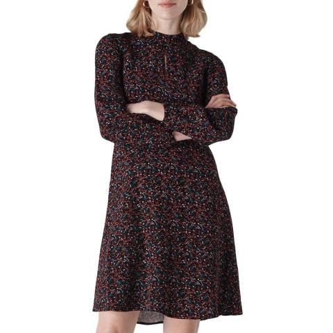WHISTLES Multi Starflower Dress
