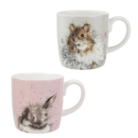 Royal Worcester Set of 2 Bathtime & Dandelion Mugs