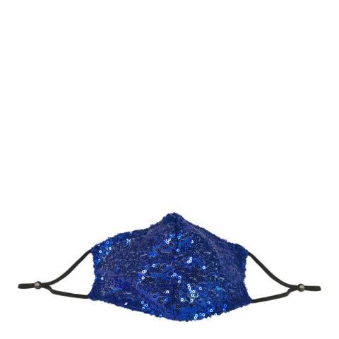 JayLey Collection Cobalt Blue Sequin Face Mask