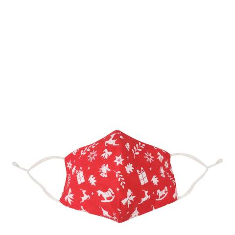 JayLey Collection Red Christmas Cotton Face Mask