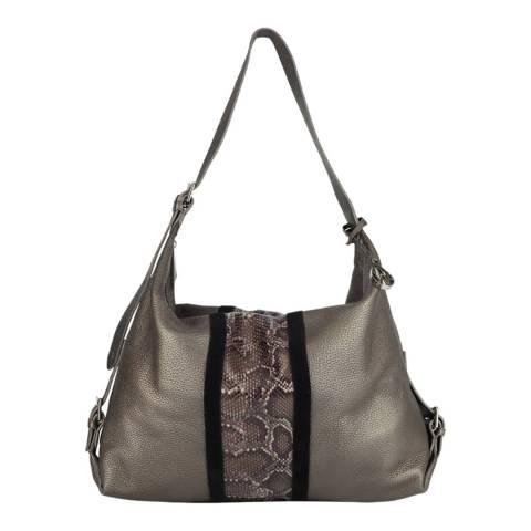 Amanda Wakeley Bronze Taupe The Stripe Costner Hobo Bag