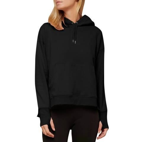 N°· Eleven Black Cotton Hooded Sweatshirt