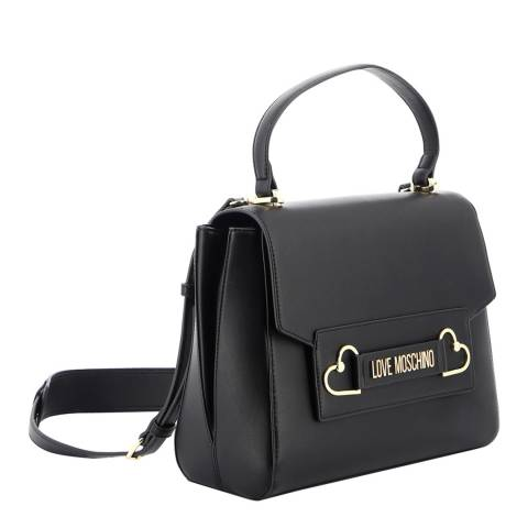 Love Moschino Black Heart Box Shoulder And Handle