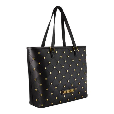 Love Moschino Black Studded Shoulder Bag