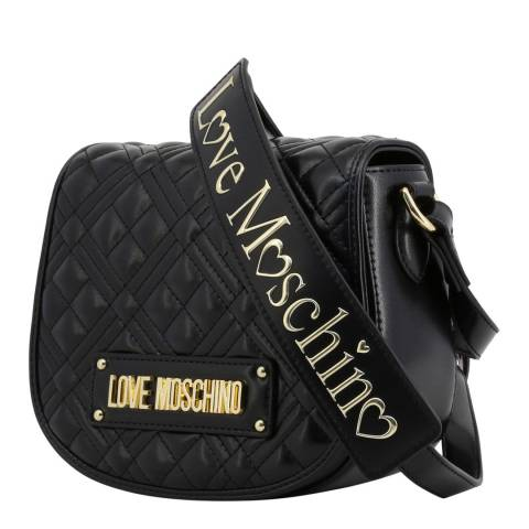 Love Moschino Black Quilted Crossbody With Strap