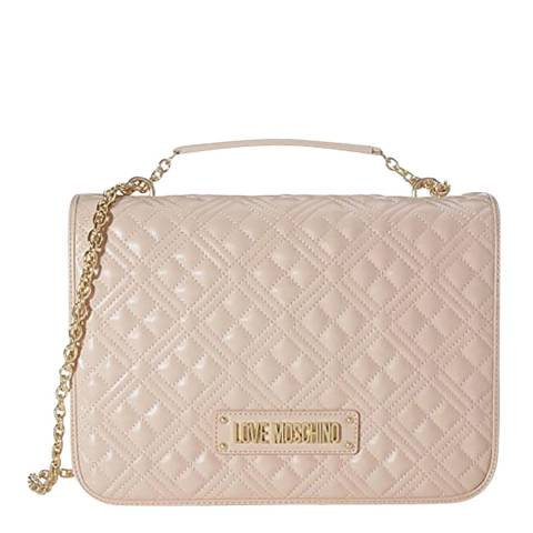 Love Moschino Pale Pink Large Quilted Crossbody With Strap