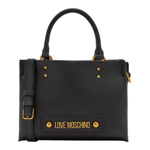 Love Moschino Black Logo Detail Belted Crossbody