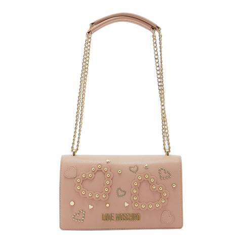 Love Moschino Pink Faux Leather Shoulder Bag
