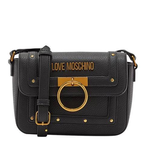 Love Moschino Black Ring Detail Crossbody