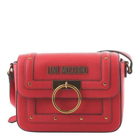 Love Moschino Red Ring Detail Crossbody