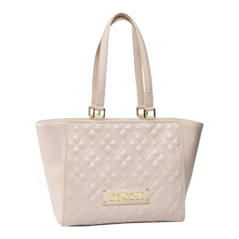 Love Moschino Beige Quilted Shoulder Bag