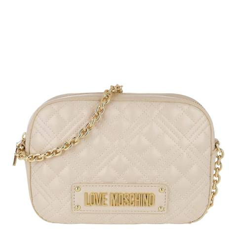 Love Moschino Beige Quilted Small Cross Body Bag