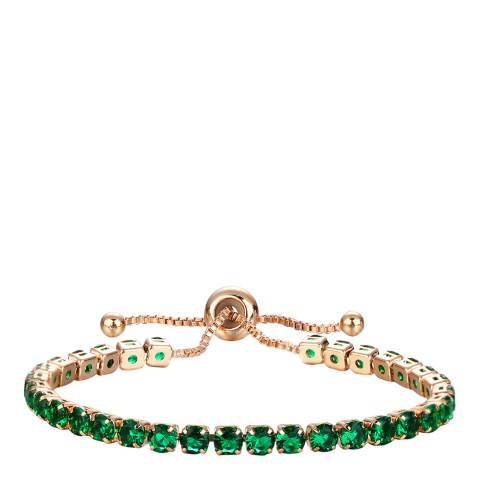Liv Oliver 18K Rose Gold Plated Green CZ Bracelet
