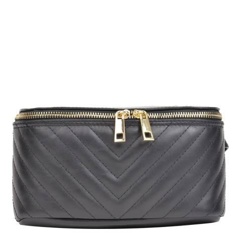 Anna Luchini Black Leather Belt Bag