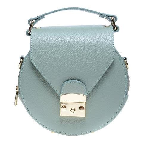 Roberta M Blue Green Leather Top Handle Bag