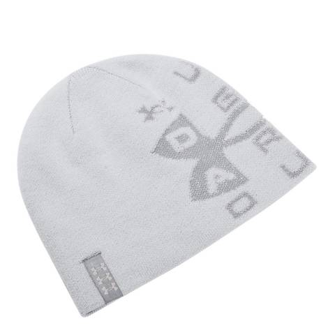 Under Armour Men's Grey/Red Billboard Reversible Beanie