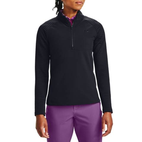 Under Armour Women's Black Half Zip Top