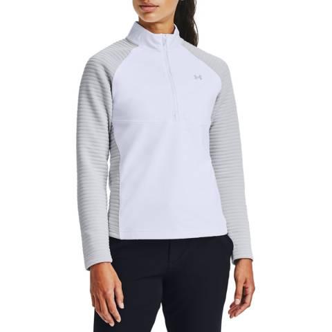 Under Armour Women's White Half Zip Top