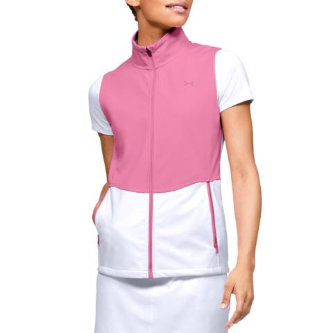Under Armour Women's Pink/White Soft Shell Gilet