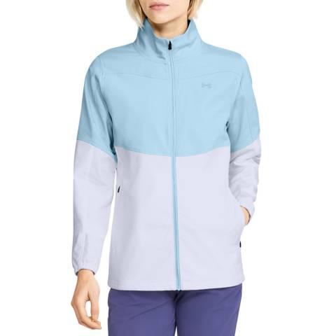 Under Armour Women's Blue/White Full Zip Top