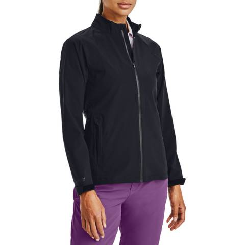Under Armour Women's Black Golf Rain Jacket