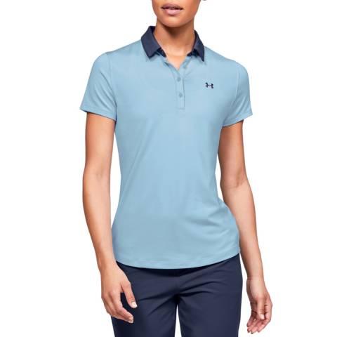 Under Armour Women's Blue Short Sleeve Polo Shirt