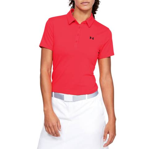 Under Armour Women's Red Short Sleeve Polo Shirt