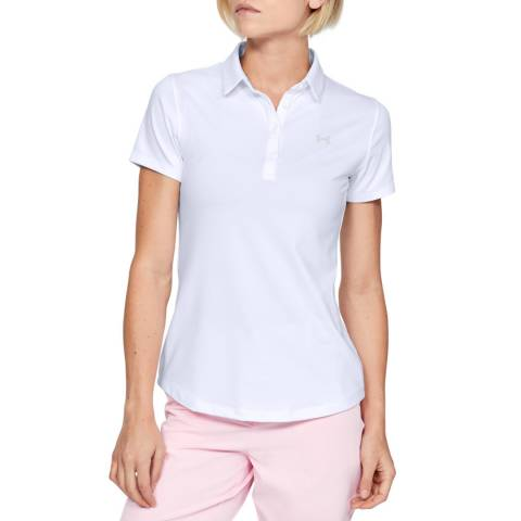 Under Armour Women's White Short Sleeve Polo Shirt