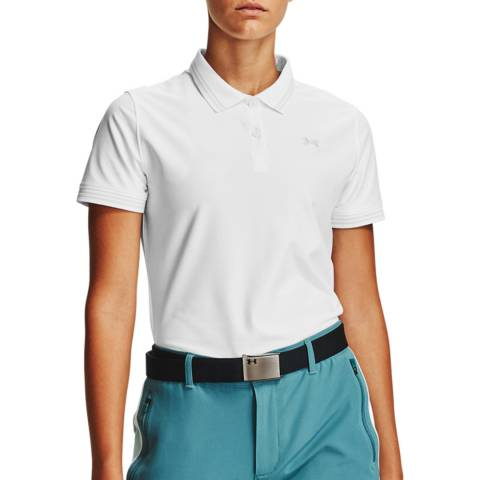 Under Armour Women's White Pique Polo Shirt