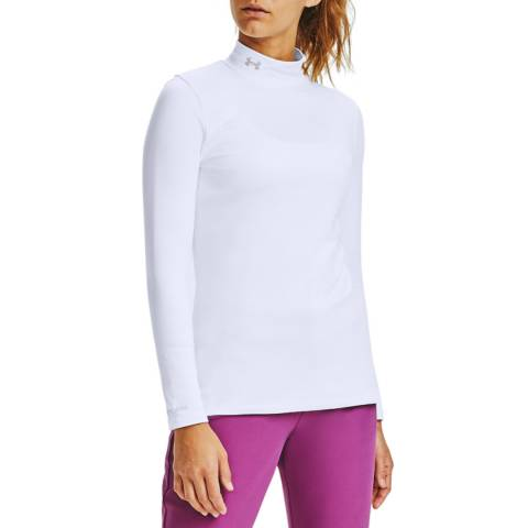 Under Armour Women's White Long Sleeve Golf Top