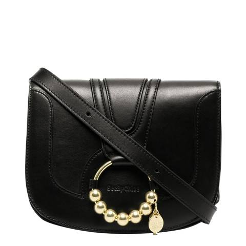 See by Chloe Black Embellished Leather Crossbody Bag