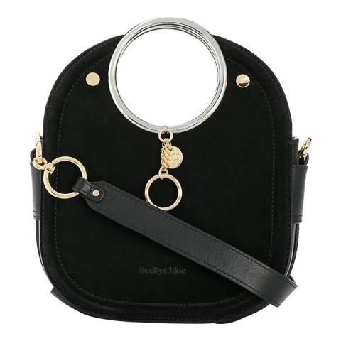 See by Chloe Black Mara Small Textured Crossbody Bag