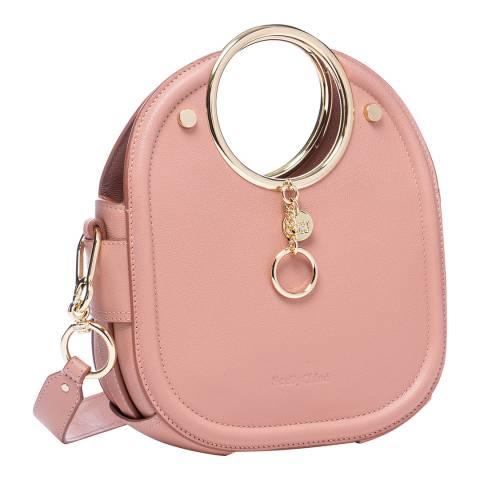 See by Chloe Pale Pink Mara Small Textured Crossbody Bag
