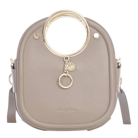 See by Chloe Motty Grey Mara Small Textured Crossbody Bag